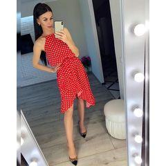 Платье Горох Завязка Верх №493 Украина