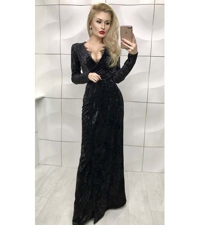 Платье Бархат в Пол №333 Украина