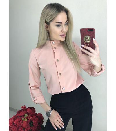 Блузка с Пуговицей №1041 Украина