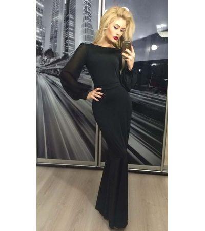 Платье рукав шифон в пол №96 Украина
