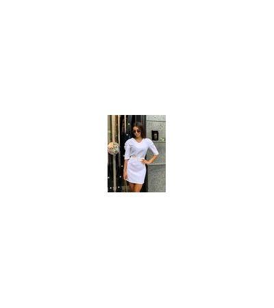 Платье Габардин Широкий Пояс №430 Украина