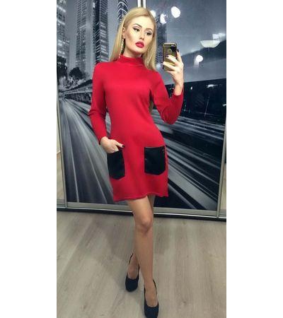 Платье Кожанный Карман№210 Украина