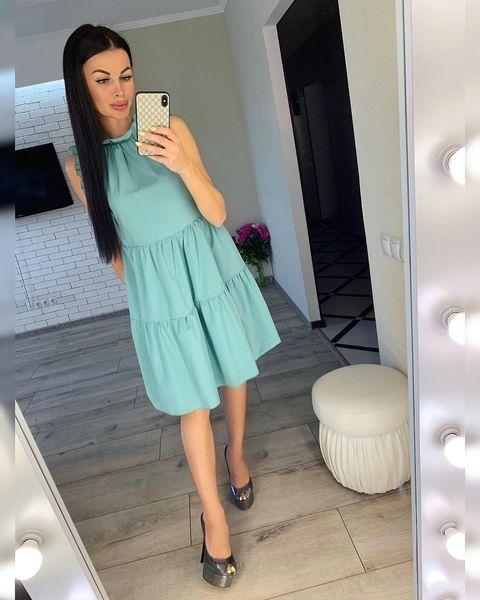 Платье Рюш Рукав Ворот №1058 Украина