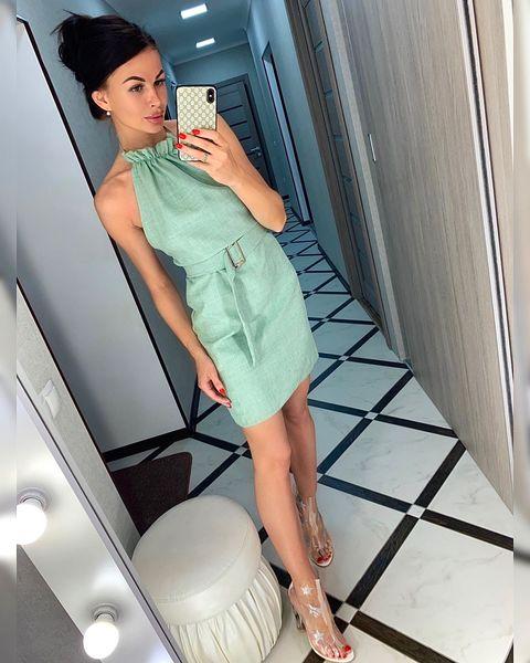 Платье Лен Завязка Пояс №1063 Украина