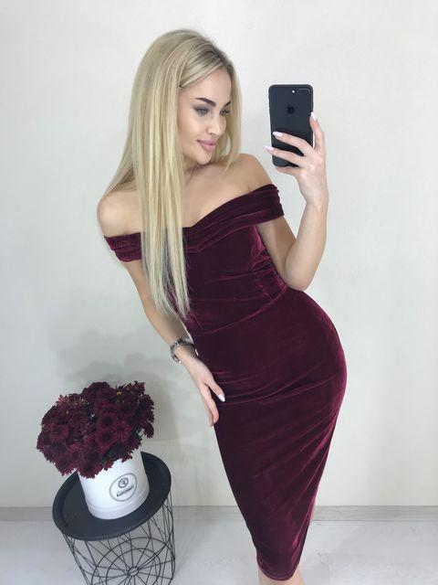 Платье Бархат №388 Украина
